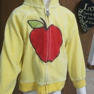 Apple velvet zipper hoodie